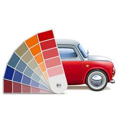 Color palette for automobile vector
