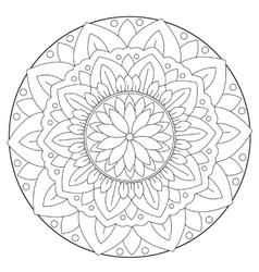 Coloring Floral Leaf Mandala vector