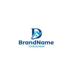 D real estate logo design vector