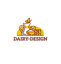 dairy composition vector image