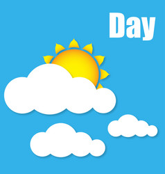 day sun clouds vector image