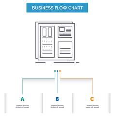 design grid interface layout ui business flow vector image