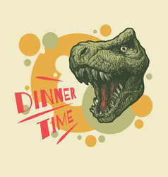 dinner time banner cartoon vector image