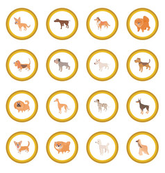 dog icon circle vector image