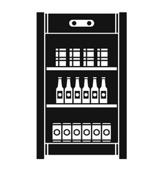 drinks refrigerator icon simple style vector image