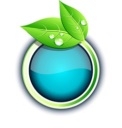 Eco button vector image