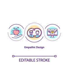 Empathic design concept icon vector