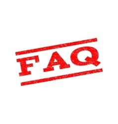 FAQ Watermark Stamp vector