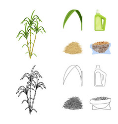 Farm and agriculture sign vector