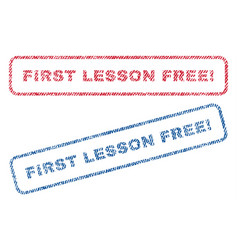 First lesson free exclamation textile stamps vector