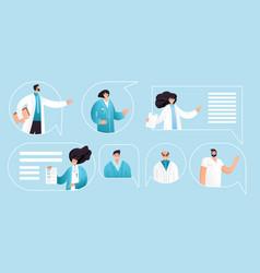 flat professional medic vector image