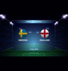 Football scoreboard broadcast graphic soccer vector