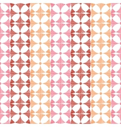 Geometric red ikat stripes seamless pattern vector
