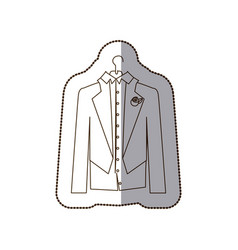 gloom elegant suit icon vector image
