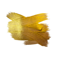gold texture paint stain hand drawn vector image