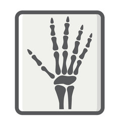 Hand x-ray filled outline icon medicine vector