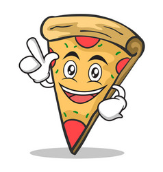 Have an idea pizza character cartoon vector