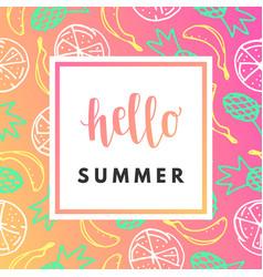 Hello summer creative printable journaling vector