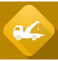 icon of wrecker with a long shadow vector image