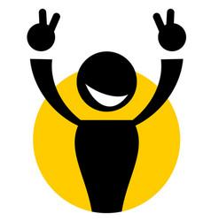 icon winner vector image