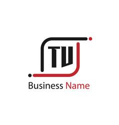 Initial letter tv logo template design vector