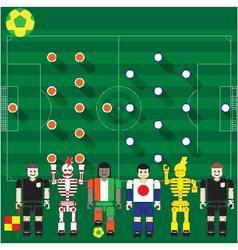 Ivory Coast vs Japan vector