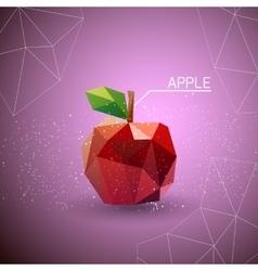 Juicy apple polygon vector image