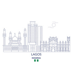 Lagos city skyline vector