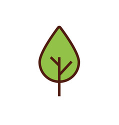 Leaf plant ecology flat style icon vector