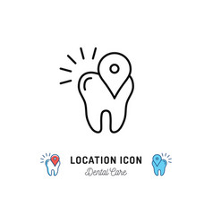 location icon dental care logo location pin vector image