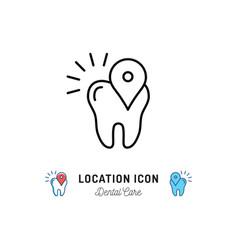 location icon dental care logo pin vector image
