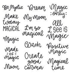 Magical phrases collection vector