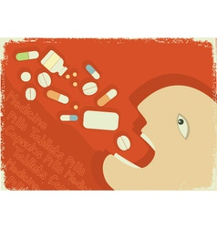 Medicine poster vector