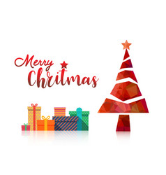 merry christmas and happy new year fancy red xmas vector image