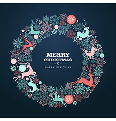 Merry christmas and happy new year greeting card vector image merry christmas and happy new year greeting card vector image m4hsunfo