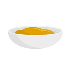 Mustard sauce icon flat style vector