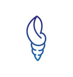 Nautilus marine life thick line blue vector
