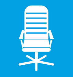Office chair icon white vector