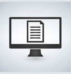 online electronic document on computer display vector image