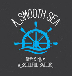 original nautical poster vector image