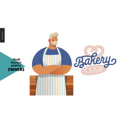 owners - small business graphics - bakery vector image