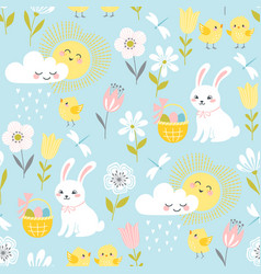 Pastel easter pattern vector