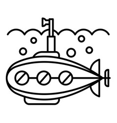 periscope submarine icon outline style vector image