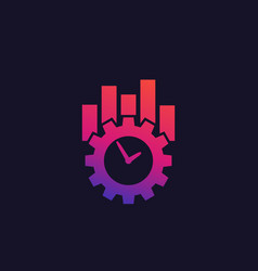 Productivity and efficiency icon vector