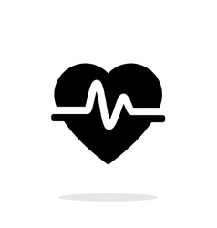 Pulse heart icon on white background vector