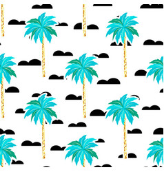 scandinavian pattern with tree palm vector image