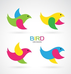 Set of bird design icons vector image