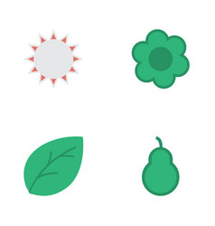 Set of simple gardening icons elements punching vector
