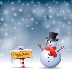 Snowman - vector image