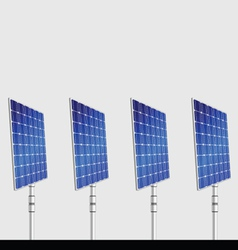solar panel isolated on gray background vector image
